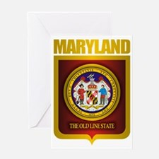 Maryland (Gold Label) Greeting Card