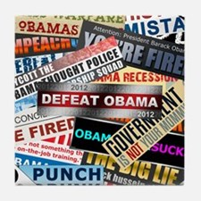 feb12_nobama_bumper_compilation Tile Coaster