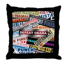 feb12_nobama_bumper_compilation Throw Pillow