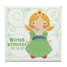 irish princess for the day Tile Coaster