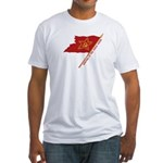 Workers Unite Flag Fitted T-Shirt