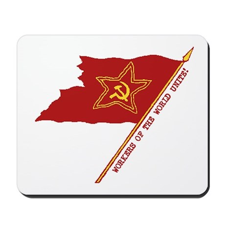 Workers Unite Flag Mousepad