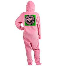 ZRT Black1220Green Footed Pajamas