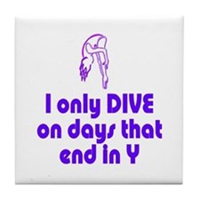 DiveChick Days Tile Coaster