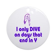 DiveChick Days Ornament (Round)