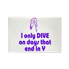 DiveChick Days Rectangle Magnet