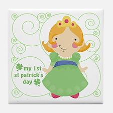 my first st patricks day princess Tile Coaster