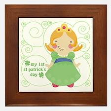 my first st patricks day princess Framed Tile