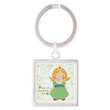 my first st patricks day princess Square Keychain