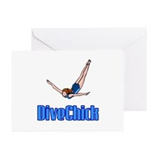 DiveChick Logo Greeting Cards (Pk of 10)