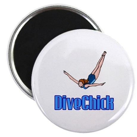 "DiveChick Logo 2.25"" Magnet (10 pack)"