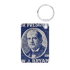ART WJ BRYAN for PRESIDENT Keychains