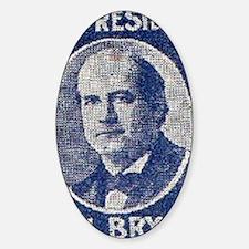 ART WJ BRYAN for PRESIDENT Sticker (Oval)