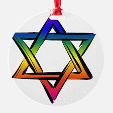 LGBT Star Of David Ornament
