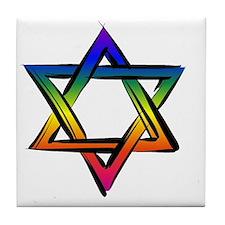 LGBT Star Of David Tile Coaster