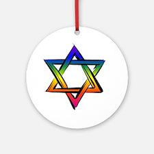 LGBT Star Of David Round Ornament