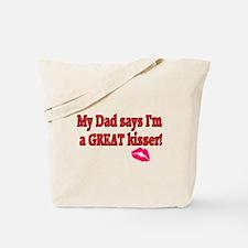Good Kisser Dad  Tote Bag