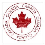 Canada Square Car Magnets