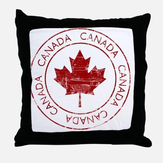 vintageCanada5 Throw Pillow