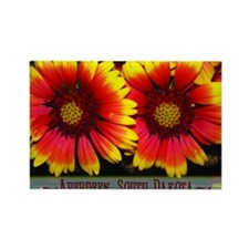 flowers05 Rectangle Magnet