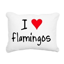 iheartflamingos Rectangular Canvas Pillow