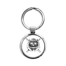 10x10_CD SFUWO WHT Round Keychain