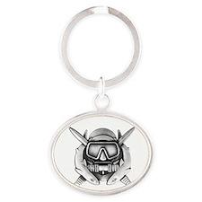 10x10_CD SFUWO WHT Oval Keychain