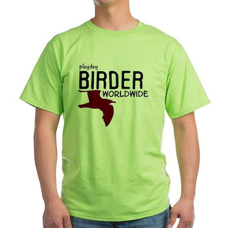 Birder Worldwide_BLACK Green T-Shirt
