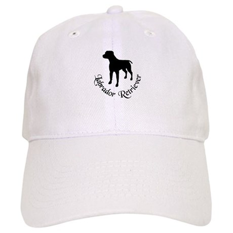 Black Lab Dog Silhouette Cap