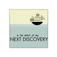 "ship_discovery Square Sticker 3"" x 3"""