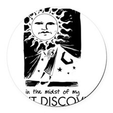 curtain_discovery_rev Round Car Magnet