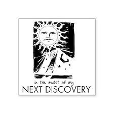 "curtain_discovery_rev Square Sticker 3"" x 3"""