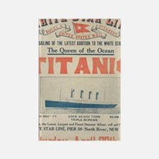 Titanic Ad Card BIG Rectangle Magnet