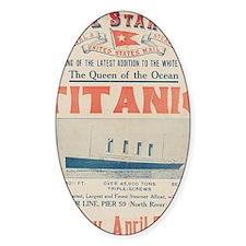 Titanic Ad Card BIG Decal
