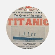 Titanic Ad Card BIG Round Ornament