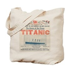 Titanic Ad Card BIG Tote Bag