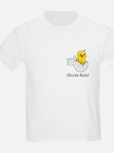 CHICKS RULE Kids T-Shirt