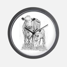 Cow & Calf  Wall Clock