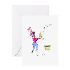 Coffee or tea Greeting Card