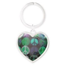 peace Heart Keychain