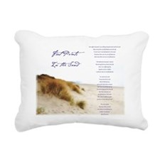 footprints Rectangular Canvas Pillow