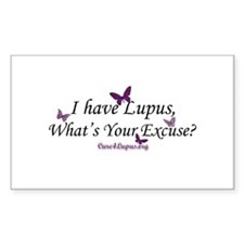 What's Your Excuse Rectangle Decal