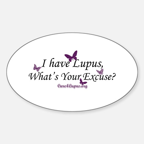 What's Your Excuse Oval Decal