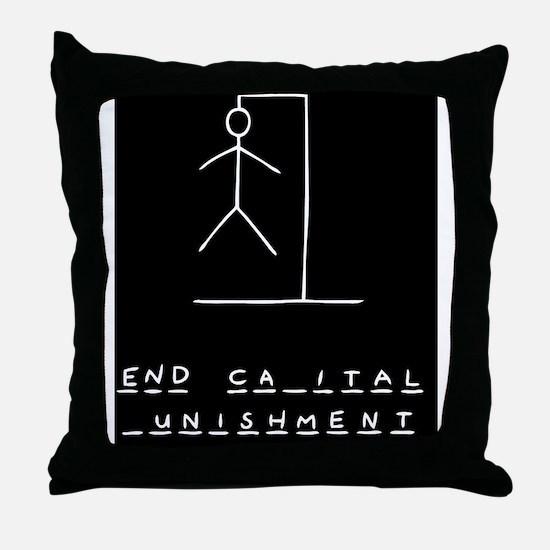 hangman-death-LG Throw Pillow