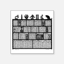 "Bookshelf6-shirt Square Sticker 3"" x 3"""