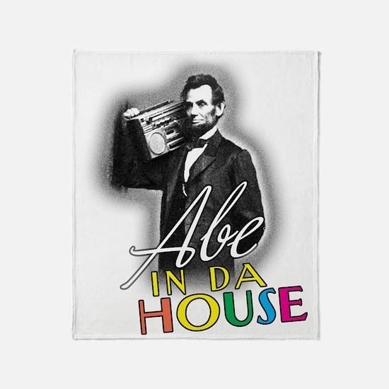 Abe In Da House Throw Blanket