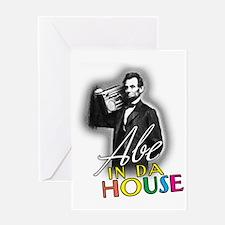 Abe In Da House Greeting Card