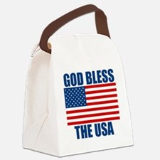godblessusa Canvas Lunch Bag