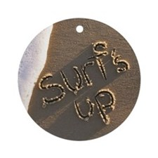 surfs up Round Ornament