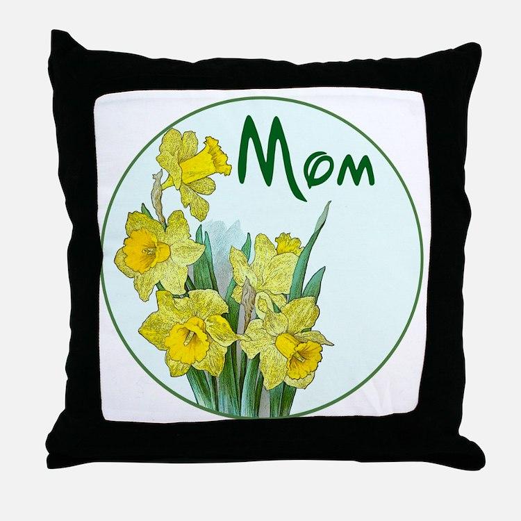 daf-Mom-C10trans Throw Pillow